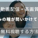 『きみの瞳が問いかけている』ネタバレ感想。純愛を横浜流星x吉高由里子でリメイク